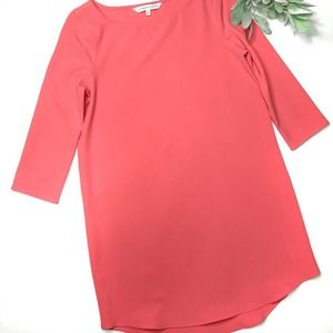 CUPCAKES & CASHMERE | sz S hot coral shift dress